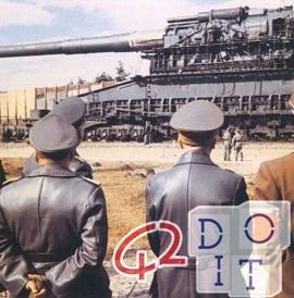 cañón más poderoso jamás transportado en un tren