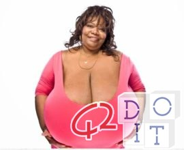 woman with the largest natural breasts in the world, Norma Stitz