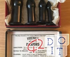 Dr. Young's Rectal Dilators: medical devices used until the 1940s