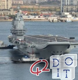 Shandong, the first aircraft carrier built entirely by China in 2019