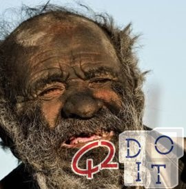 The dirtiest man in the world: he hasn't washed for 60 years