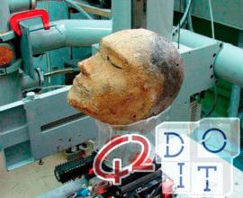 Il cranio di Ram è stato rinvenuto all'interno della testa di argilla umana di 2.100 anni in Siberia