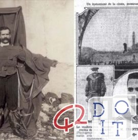 February 4, 1912 the first parachute video was also the first death filmed by a camera