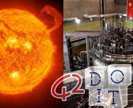 Sole artificiale cinese 6 volte più caldo del vero Sole