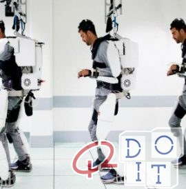 Exoskeleton, brain, demonstration, operation, Grenoble, university, video, robotics, thought,