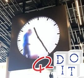 Amsterdam, airport, human, clock, artist, Maarten Baas,